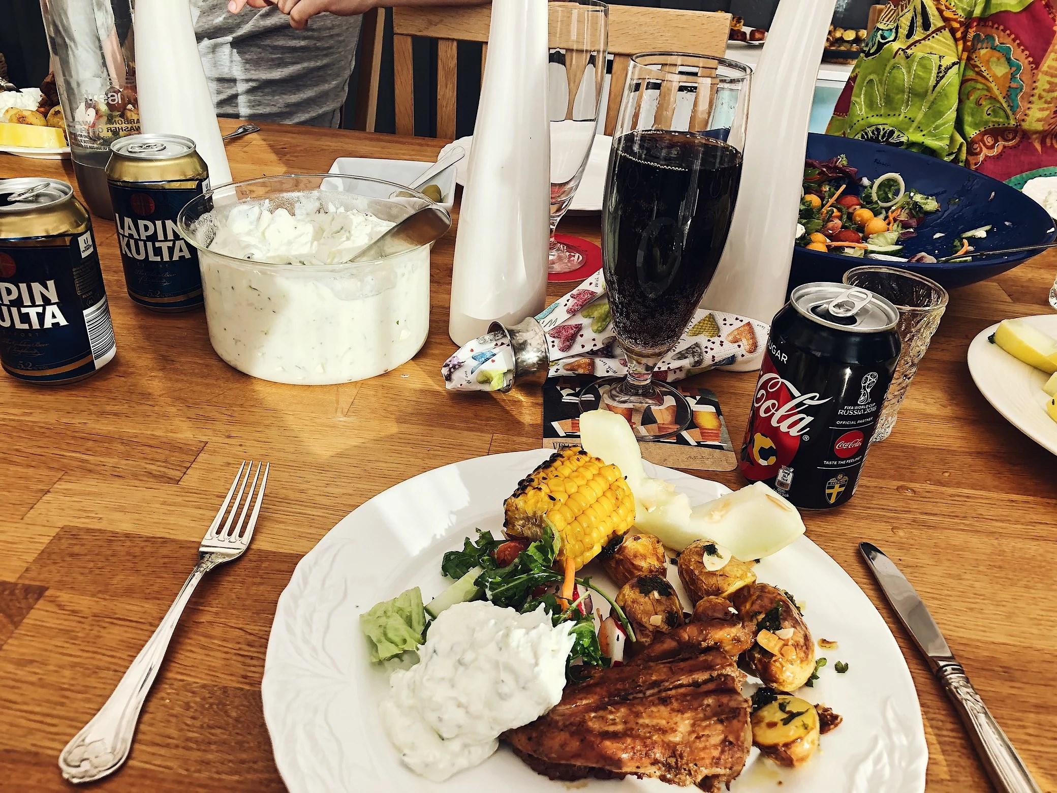 Middag hos mamma och pappa