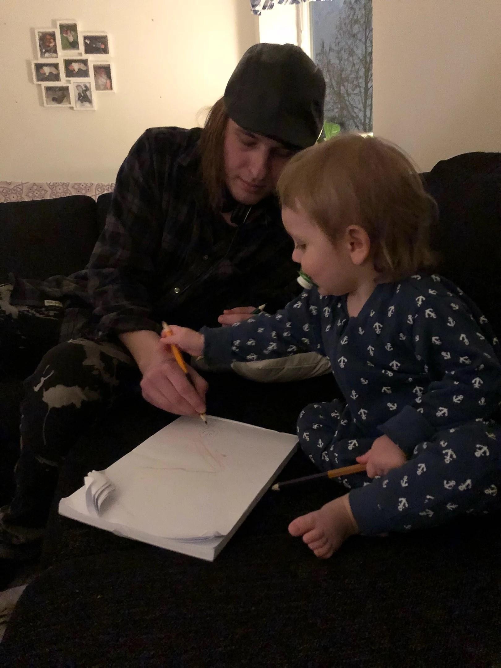 Morbror på besök