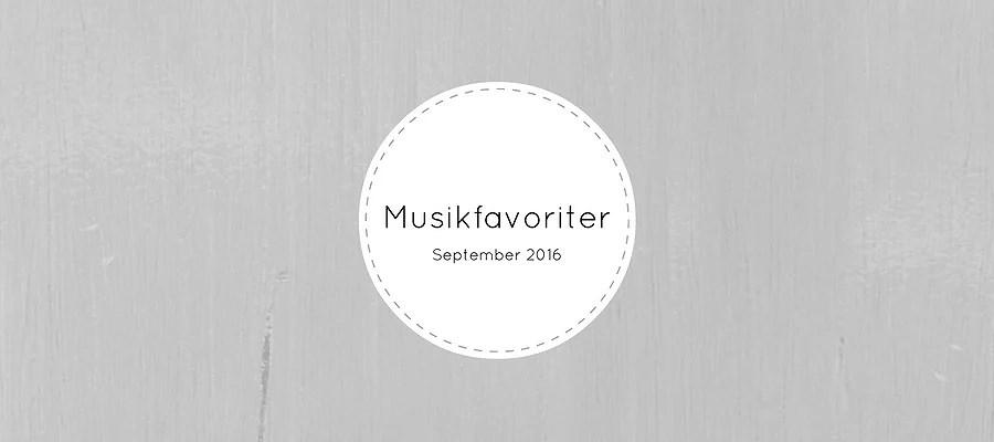 musikfavoriter | september