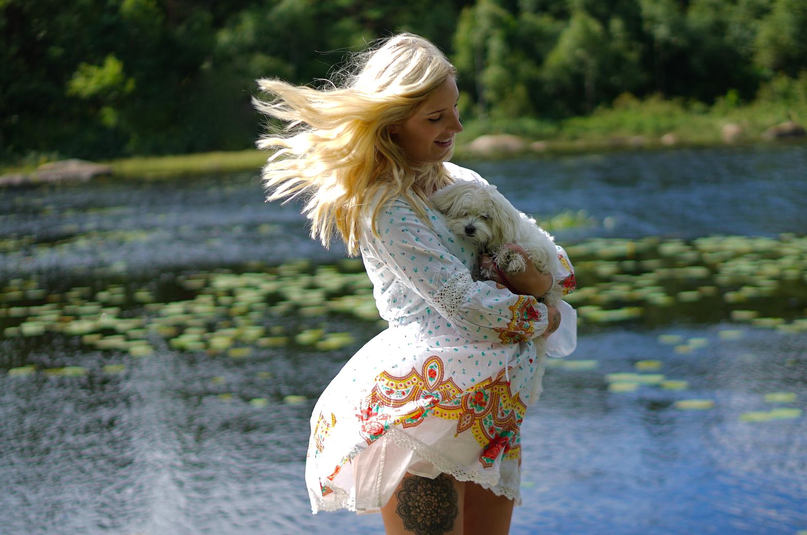 Bella, White Dress & Maternal Instincts
