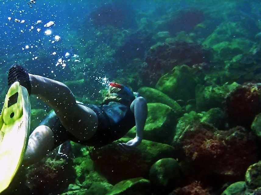 Diving for treasures in the blue ocean. #vanlife #explore #under water #vanliving #snorkeling #wanderlust #adventures