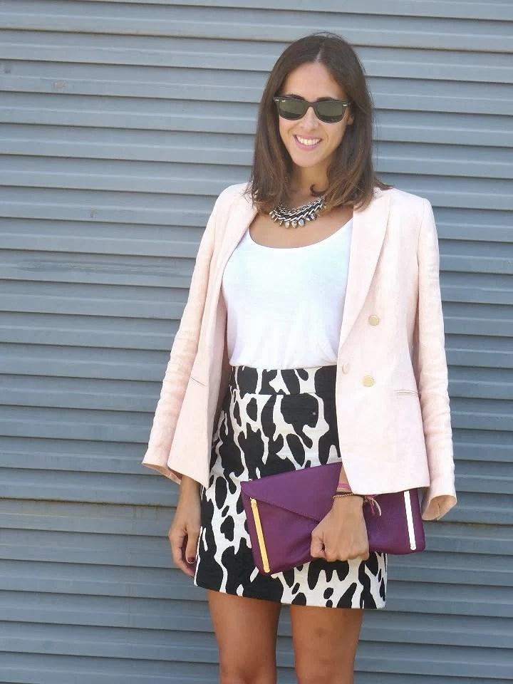Falda estampado de vaca