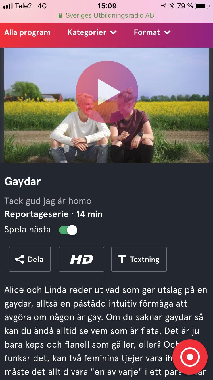 """""""Tack gud jag är homo"""""""