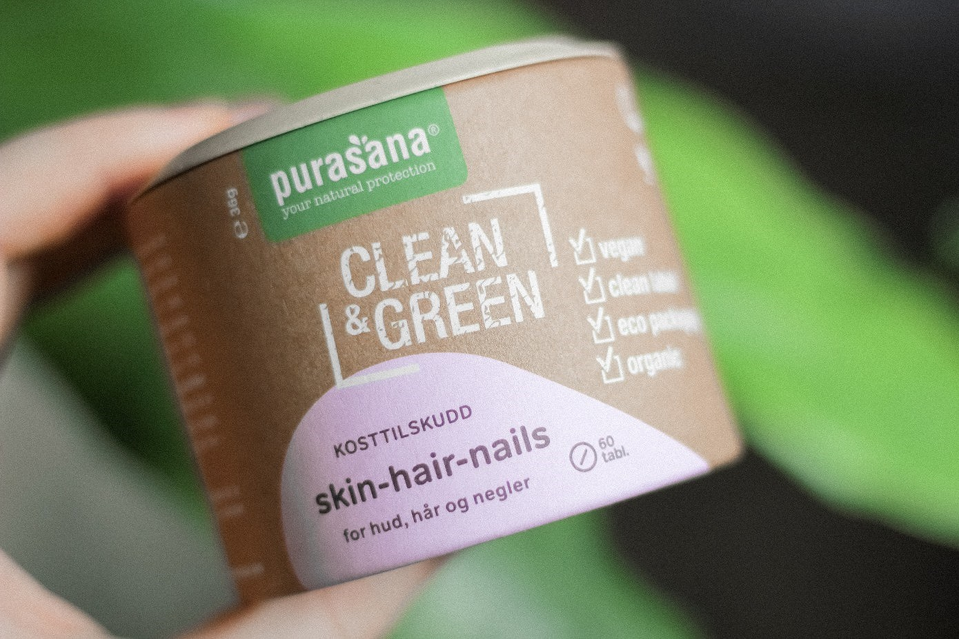 Økologisk kosttilskudd for hud, hår og negler