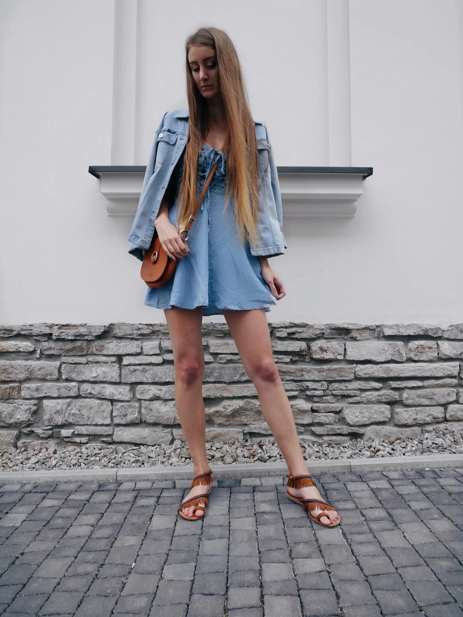 OOTD Jeansowa sukienka New Chic