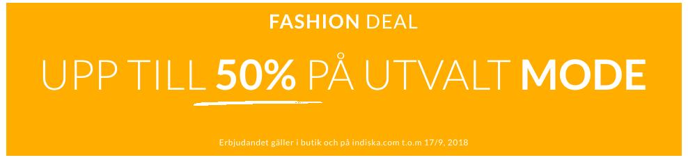Upp till 50% på utvalt mode