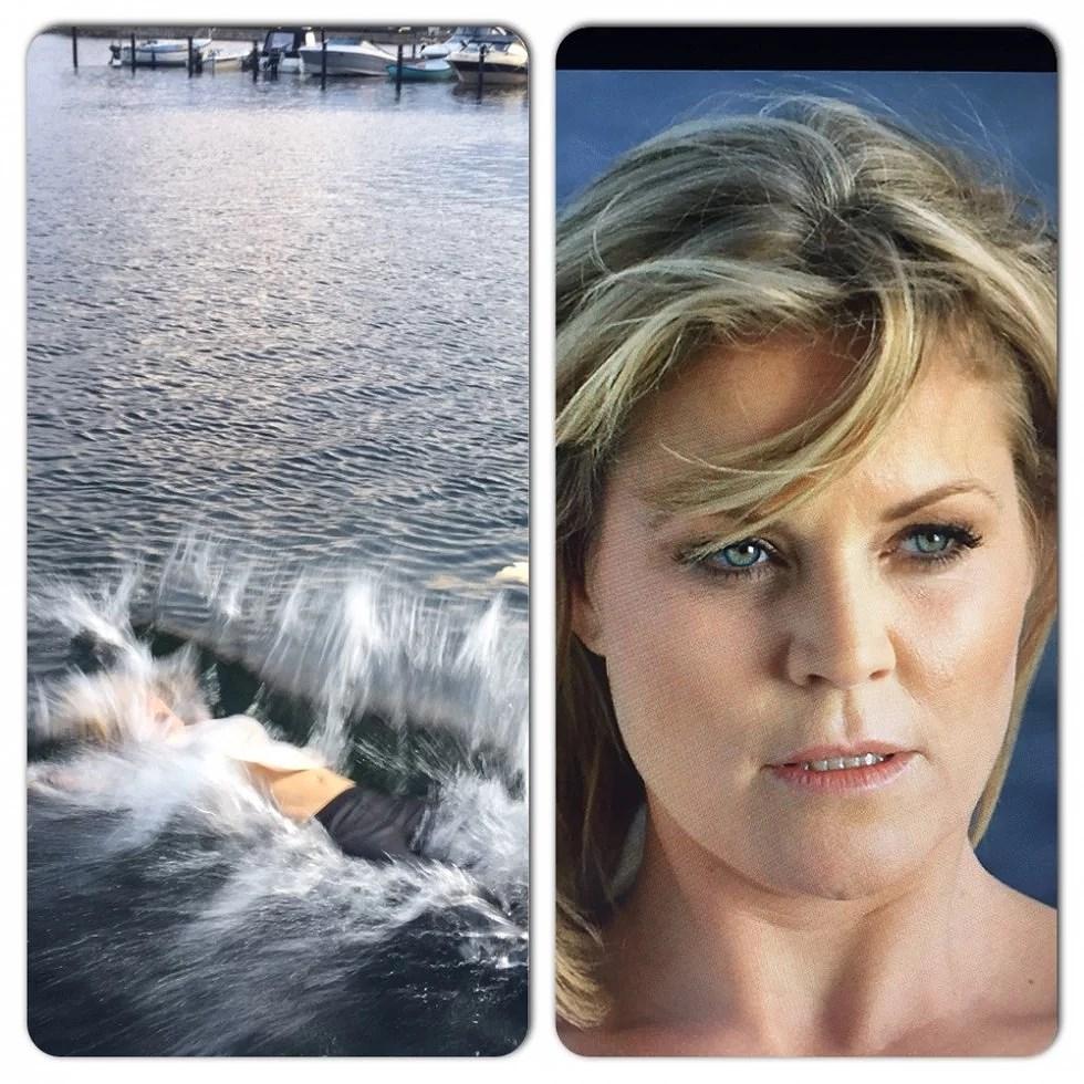 jep, det er mig i vandet. Til trailer optagelserne.