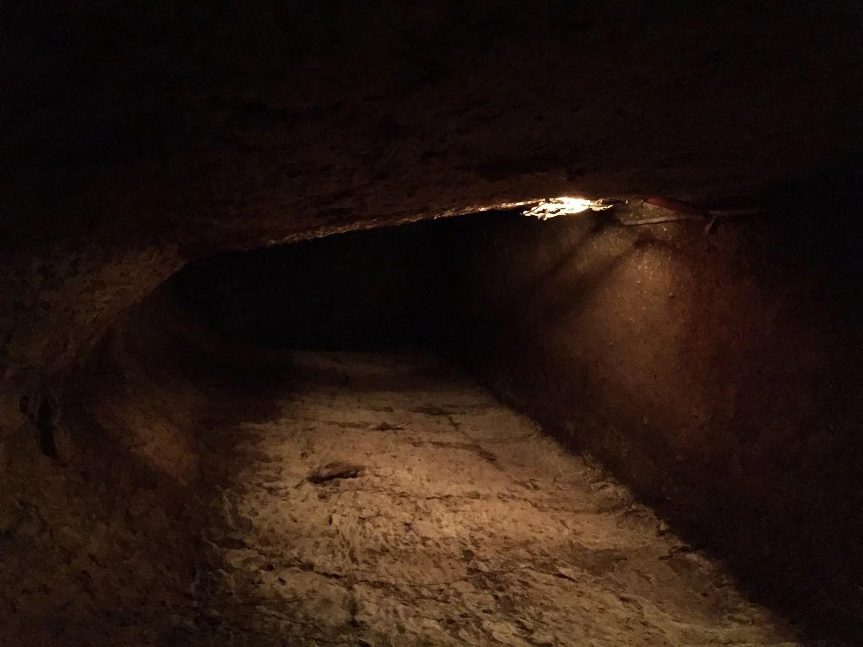 Gangen nede i hullet