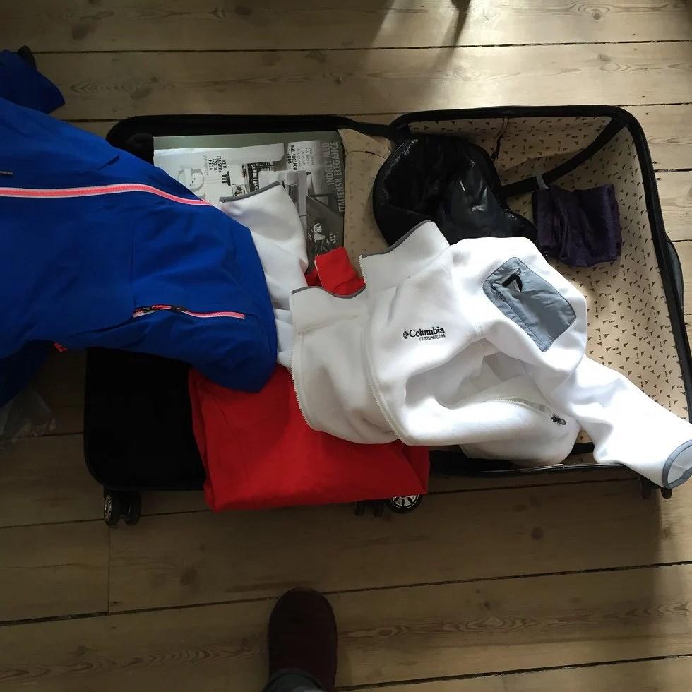 Skitøj fylder giga meget i kufferten