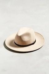Leather Band Felt Hat