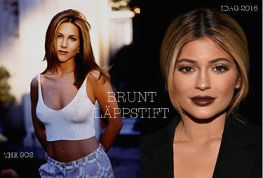 d9d5b8089f48 90-talet: Jennifer Anniston - Ingen bar bruna 90-talsläppar som Jennifer  Anistons Vänner-karaktär Rachel! Idag: Kyle Jenner - Har du hört talas om  The Kylie ...