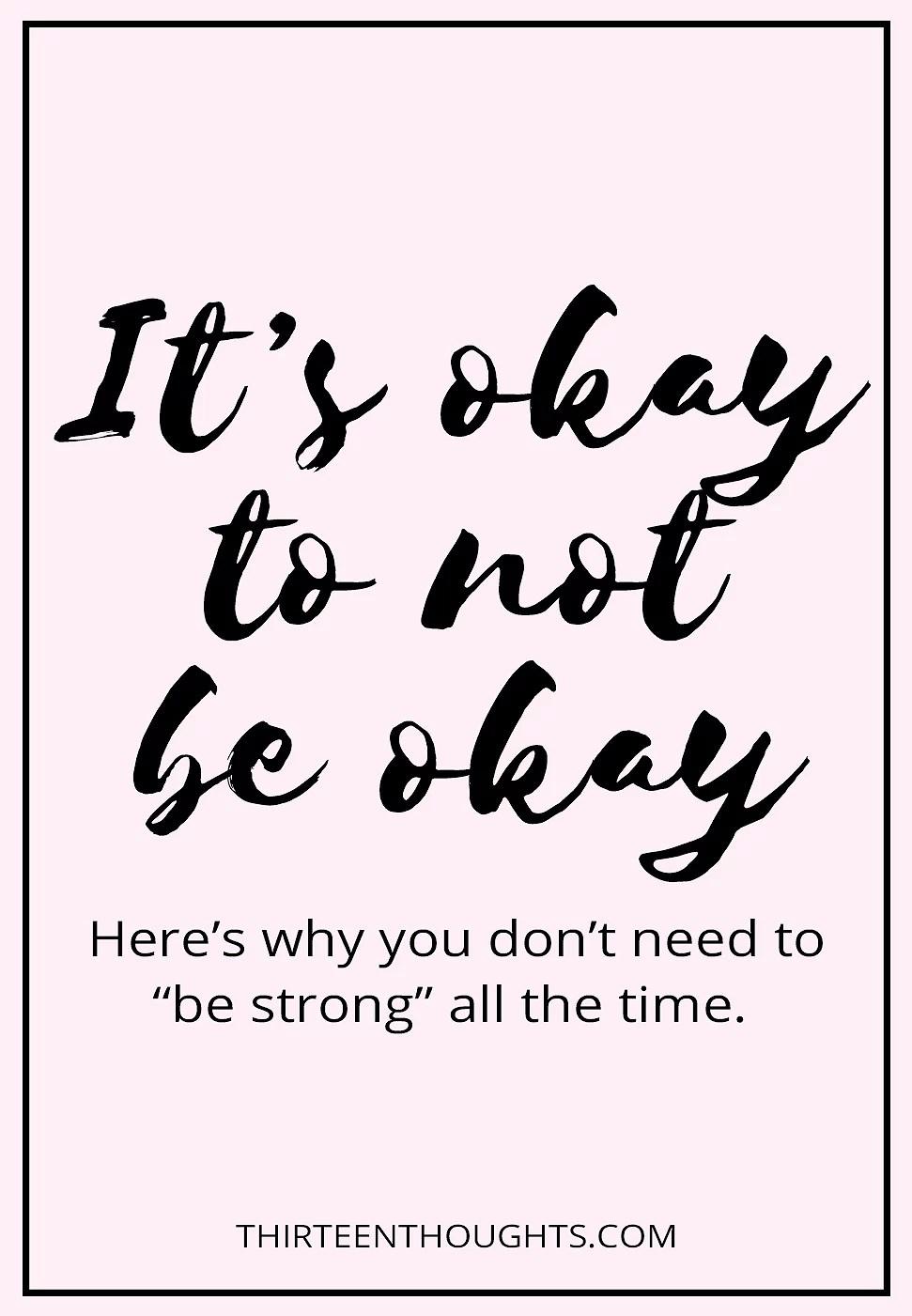 Når alt ikke er, som det skal være, - og det er okay