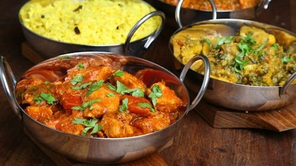 butter chicken in India