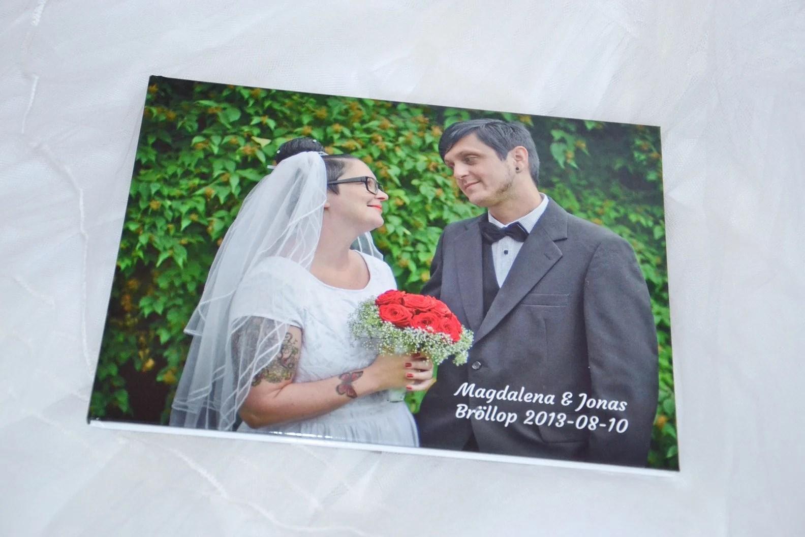 Fotobok med bröllopsbilder!