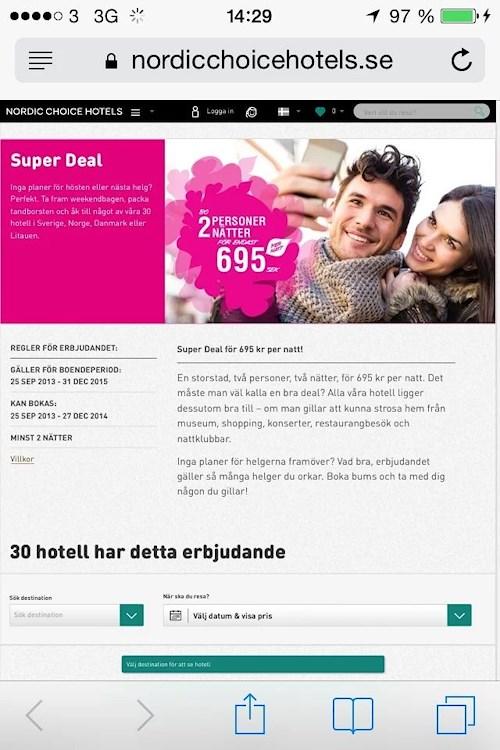 coop hotellerbjudande stockholm