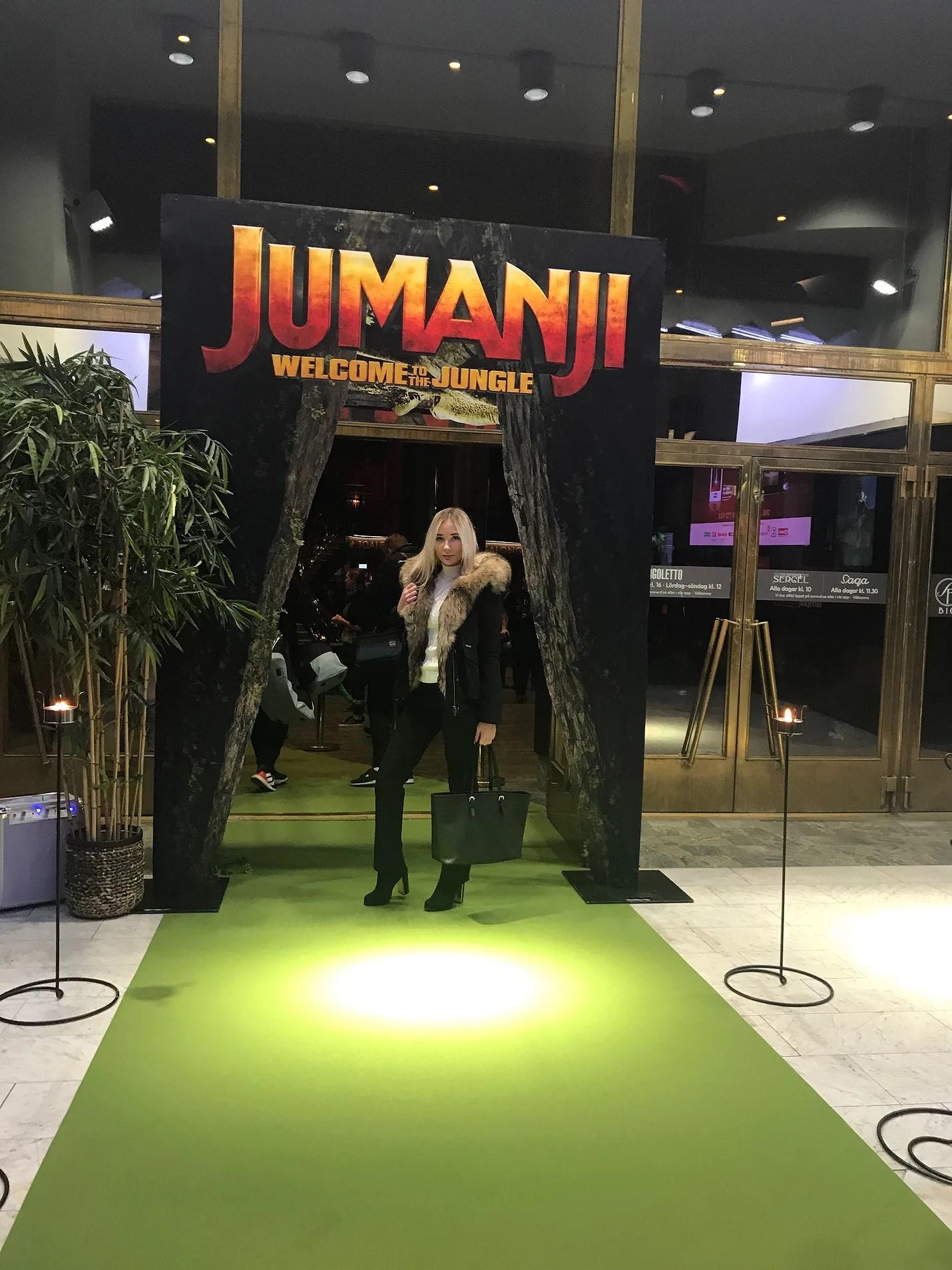 Världspremiär av filmen Jumanji