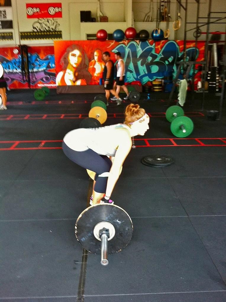 Front squat setup