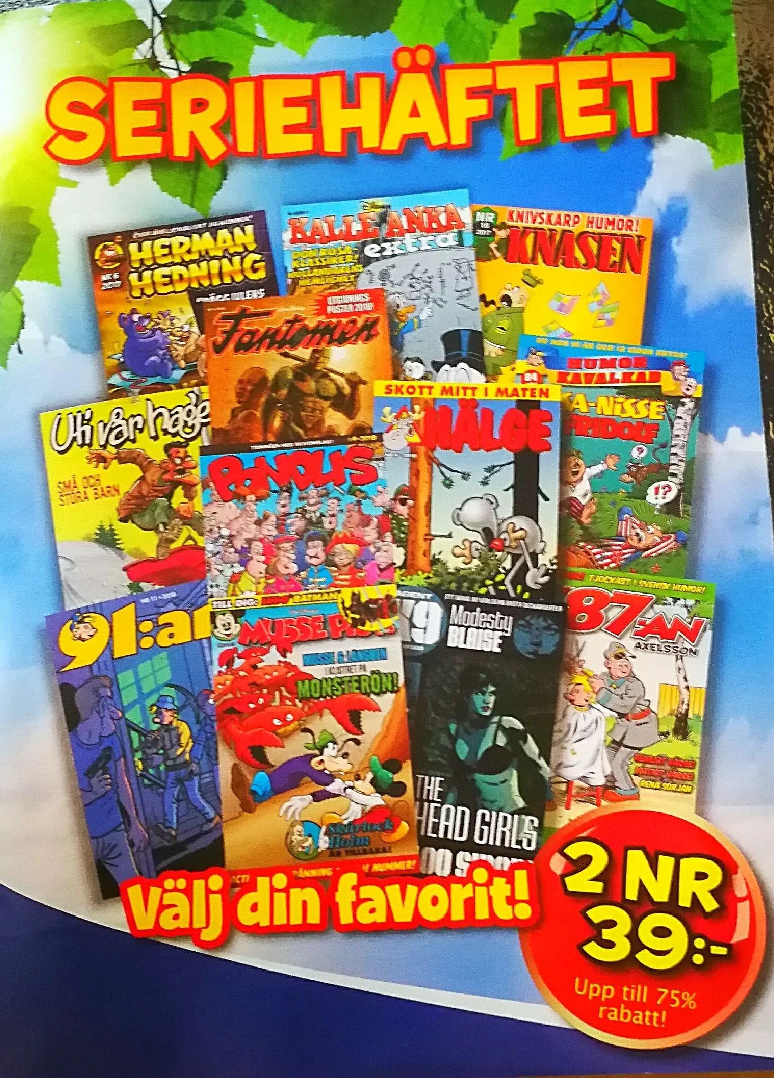 Beställ billiga serietidningar