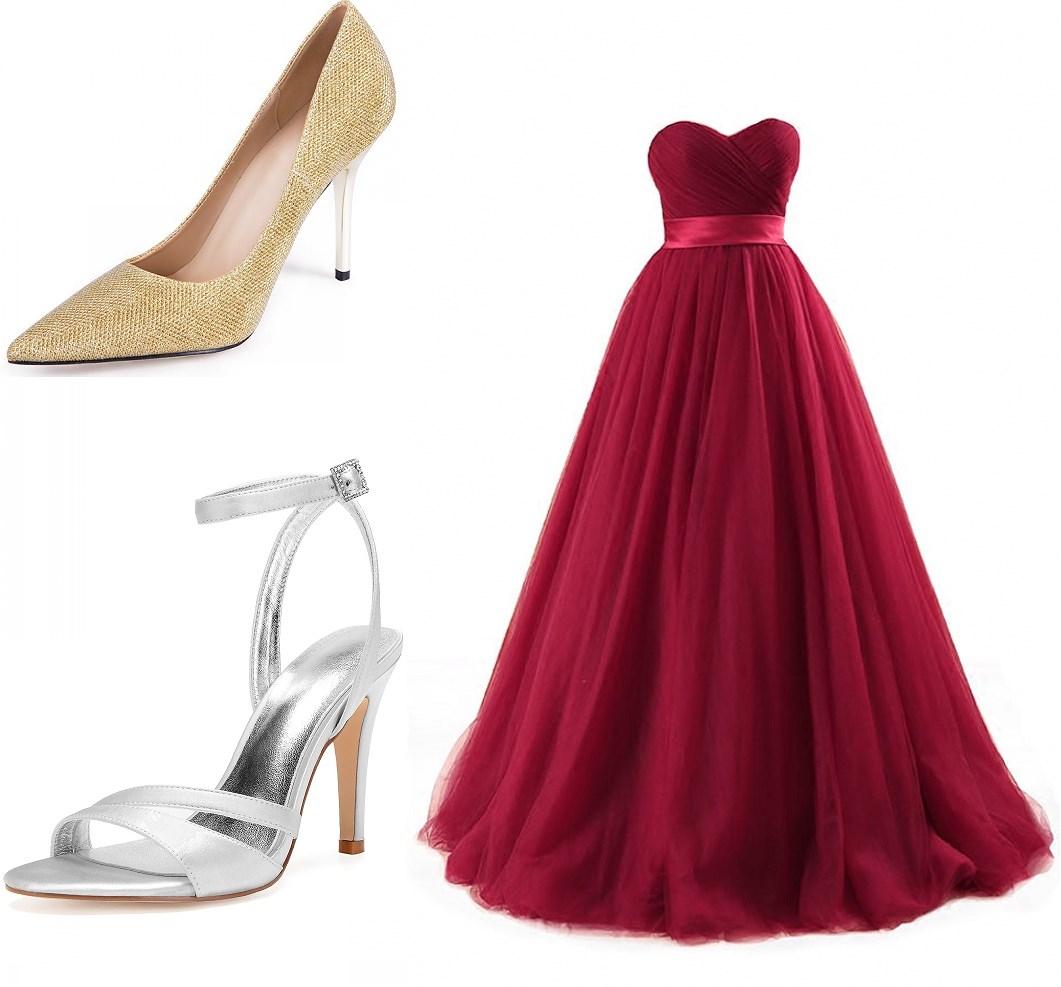sandale & escarpin pour robe de mariée bordeaux