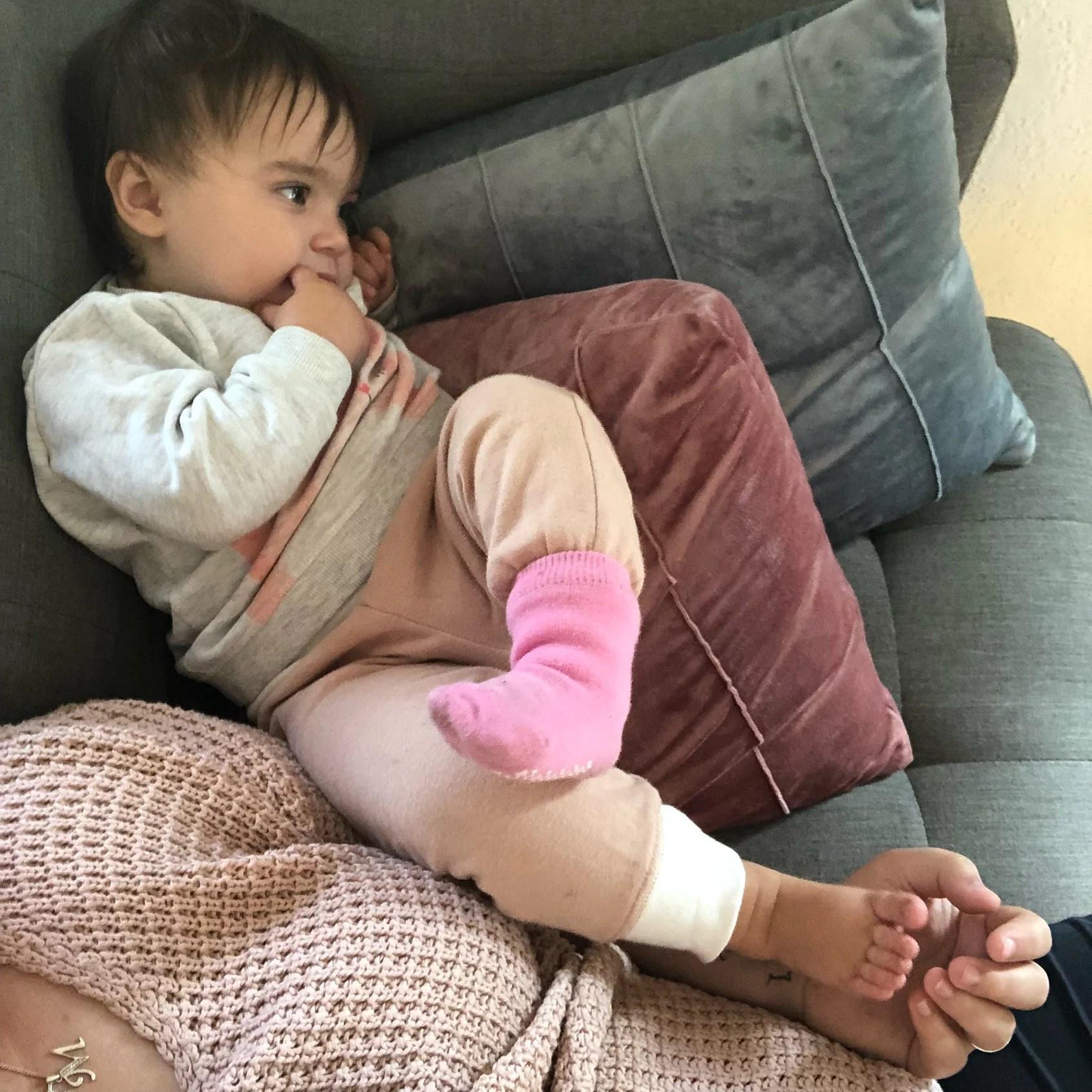 Förkyld bebis.