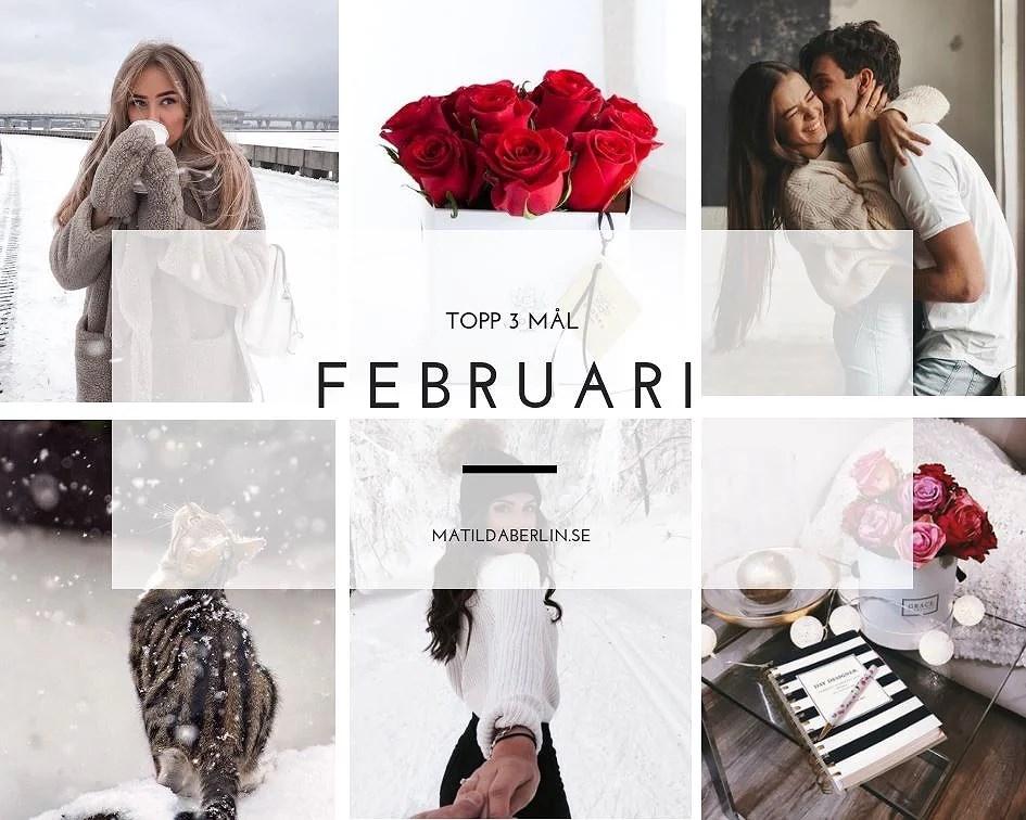 Topp 3 mål i Februari