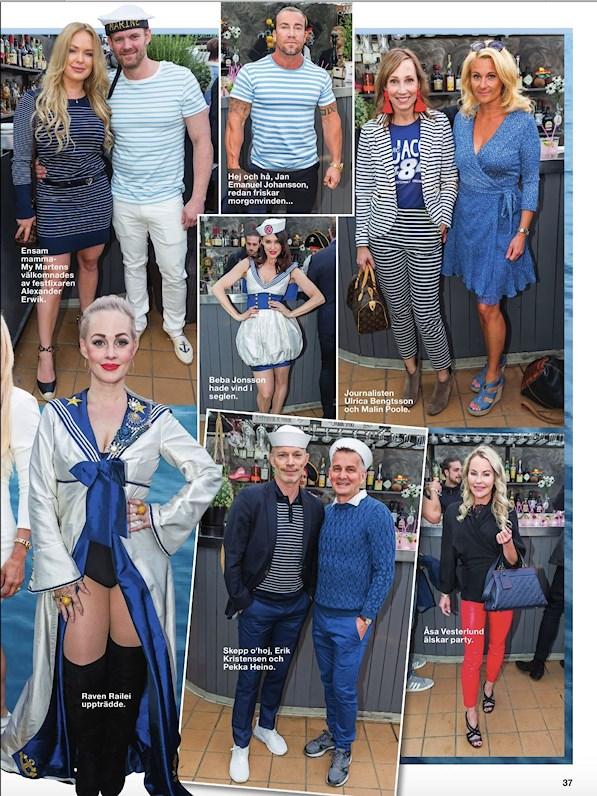 Peter Englund Designer skapade sailor outfit till Beba Jonsson