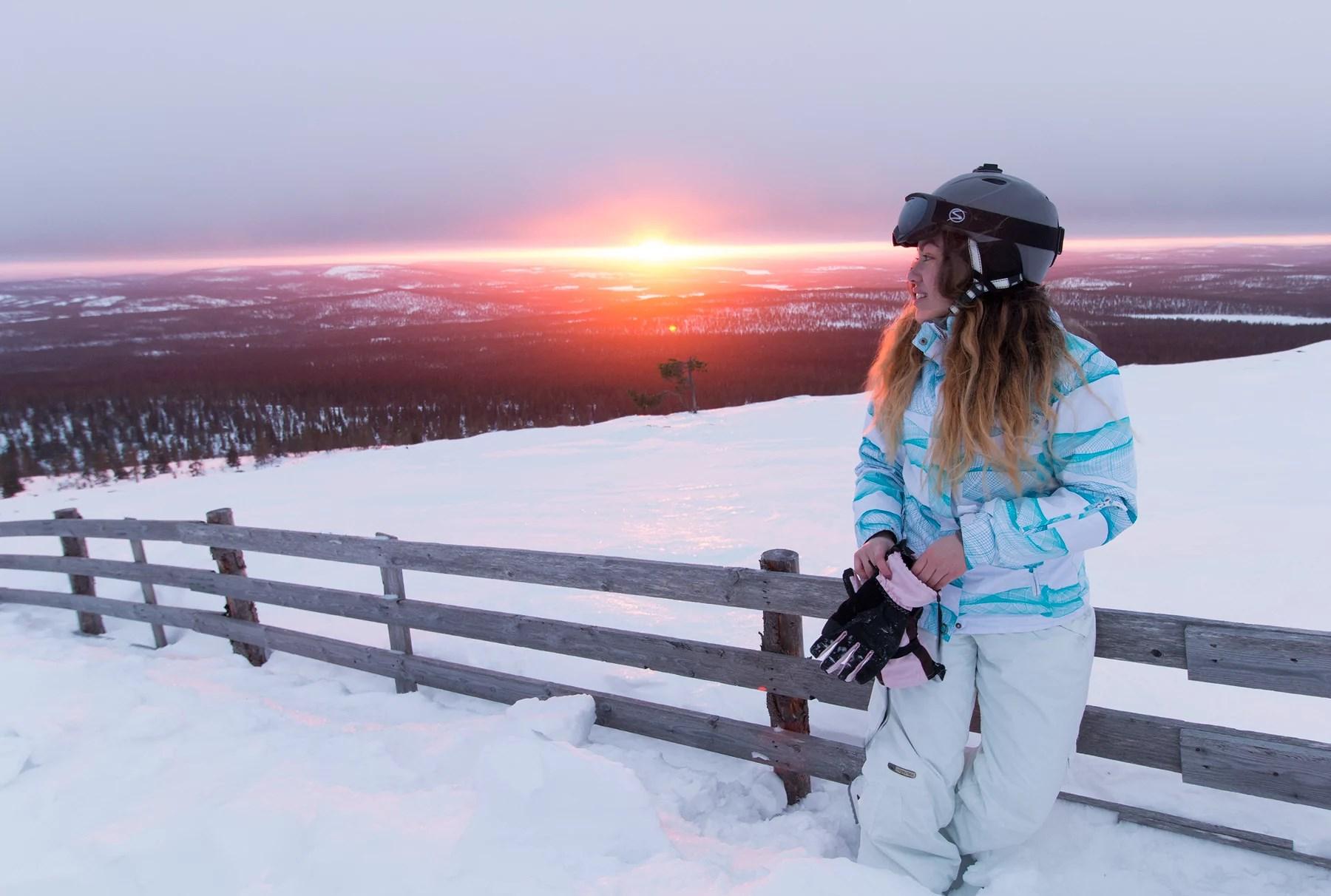 Vackra solnedgångar man bara ser med skidor
