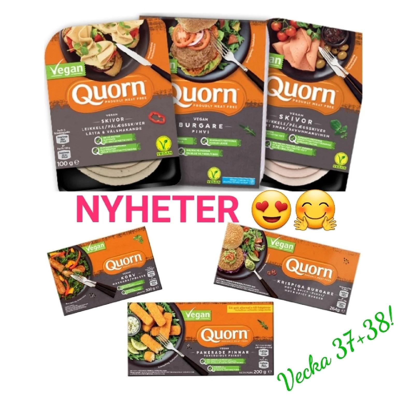 Qourn veganska nyheter - korv, burgare och pinnar
