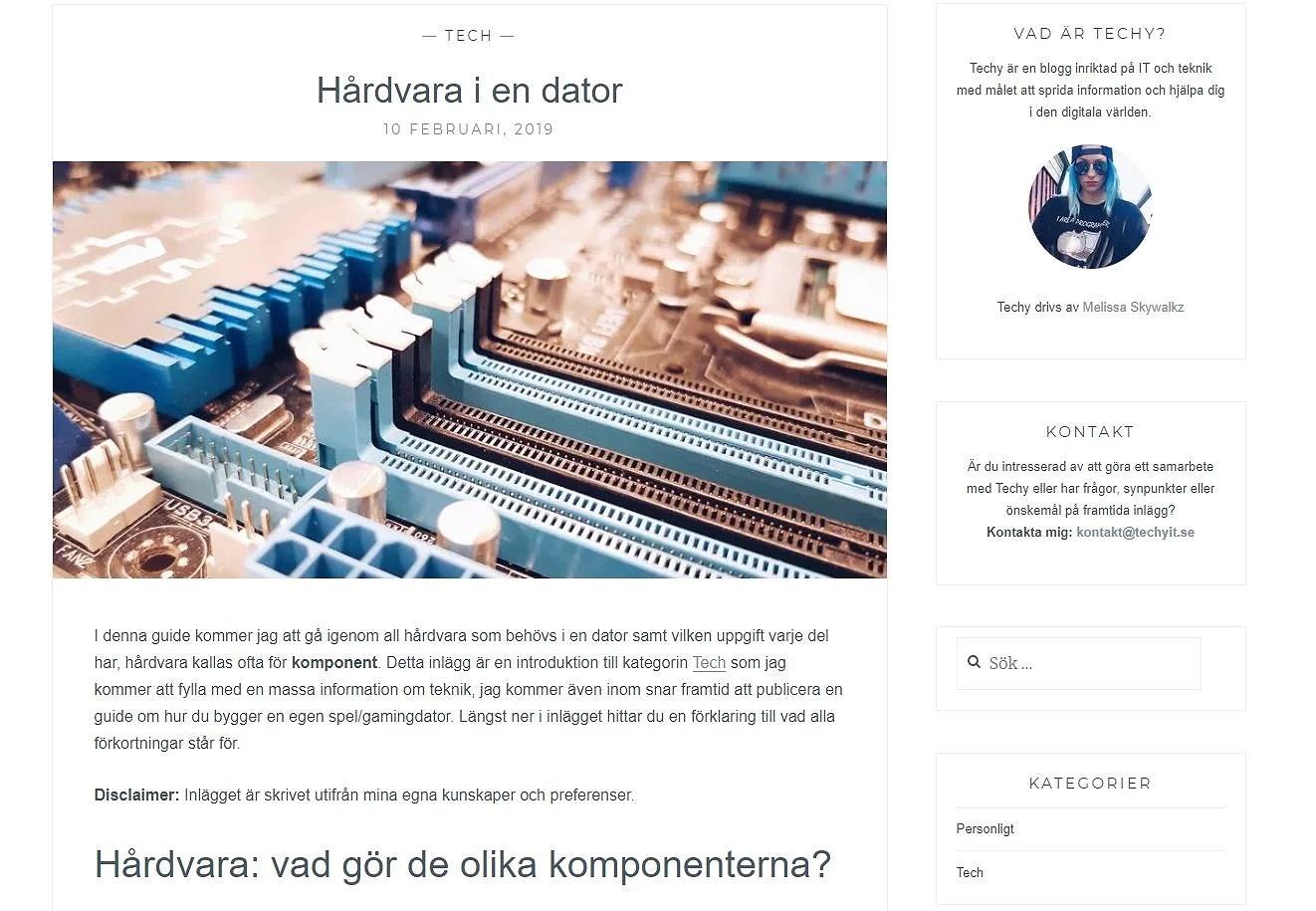 Nytt inlägg på Techy - Hårdvara!