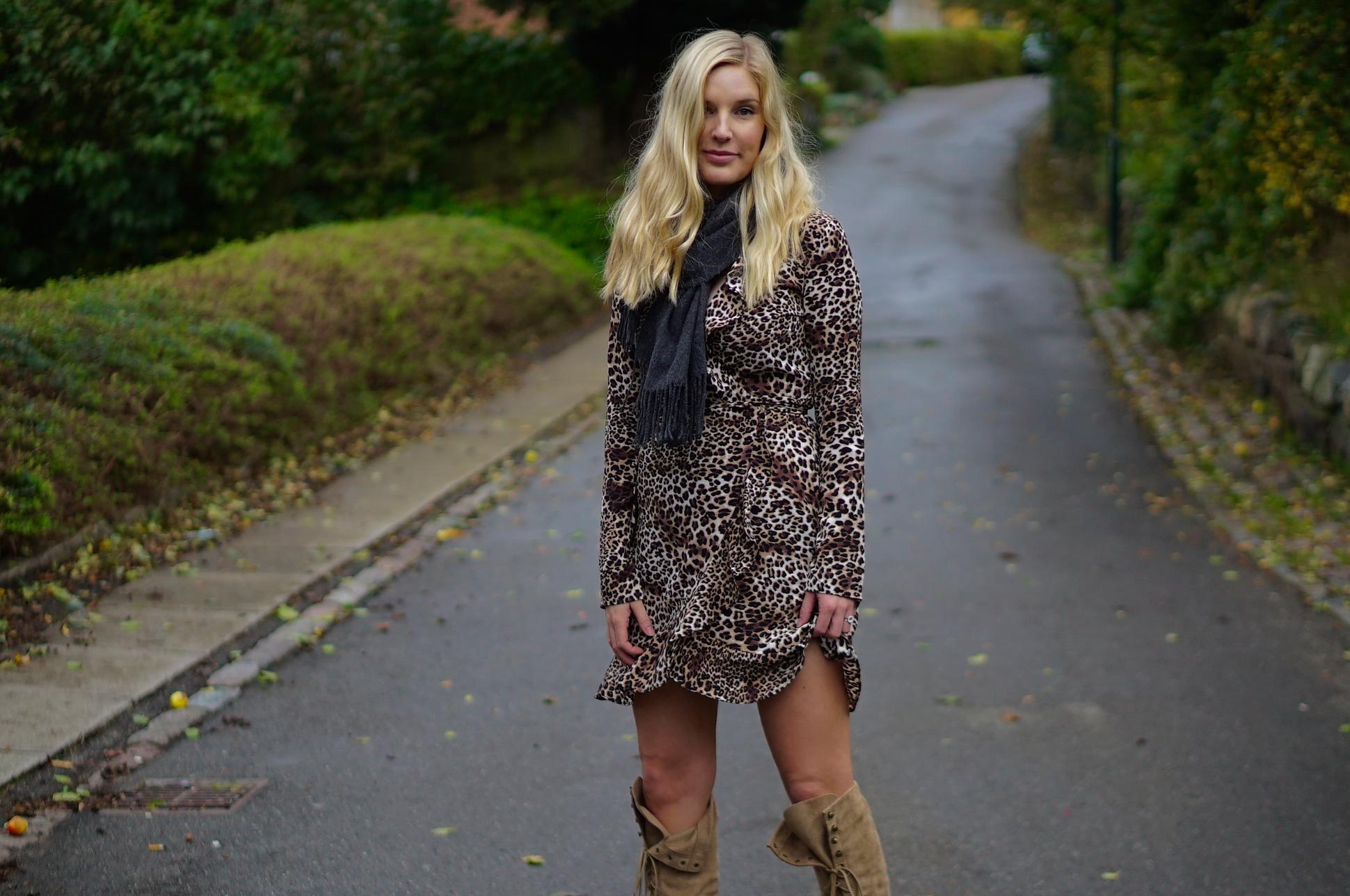 The Leopard Wrap Dress