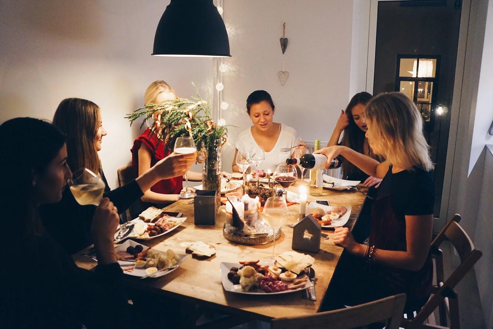 Julkväll med tjejerna