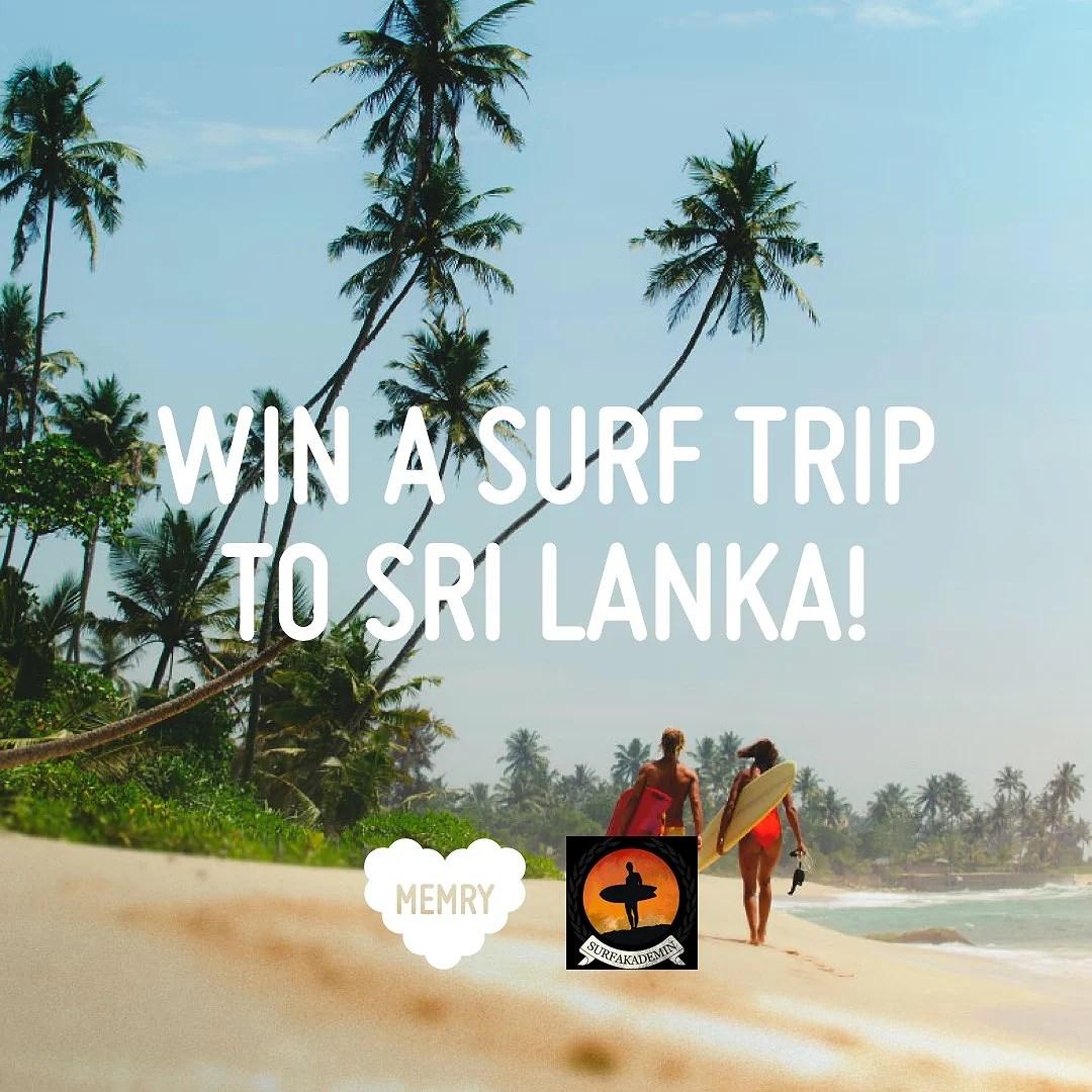 Win a surf trip to sri lanka