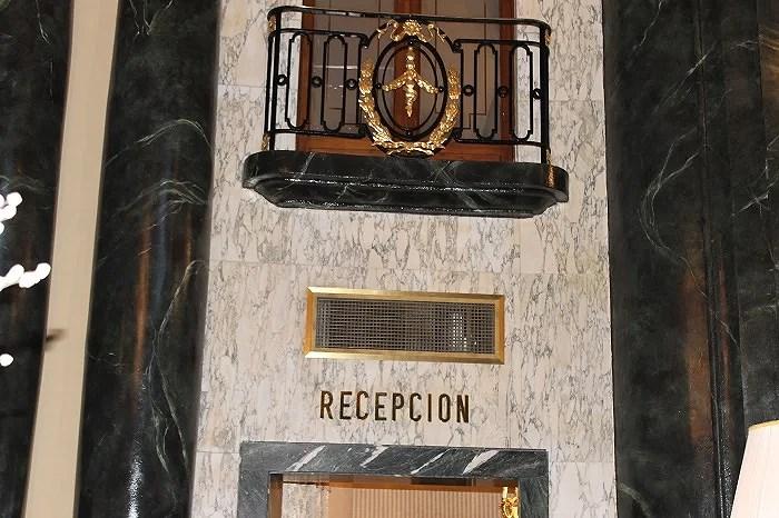 Recepción del Hotel Palace Barcelona