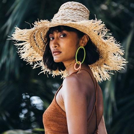 cult gaia hat, straw hat, trendy hat, summer hat, resort