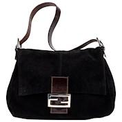 black fendi bag suede