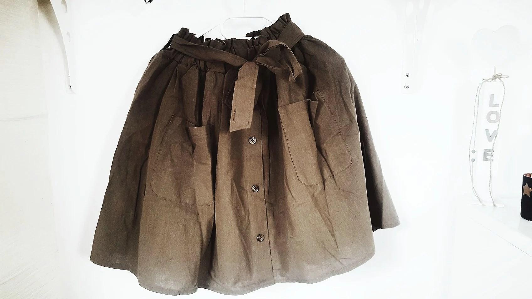 romwe, skirt, khaki, fashion, haul, nowości,