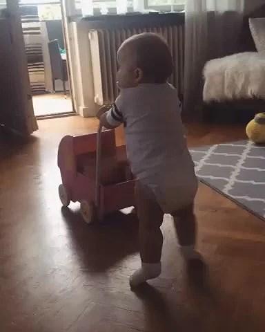 Går med dockvagnen
