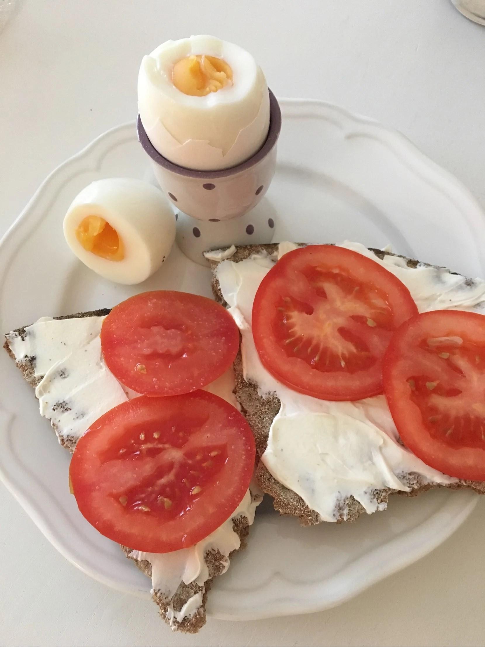 Dagens tidiga morgon och dagens frukost