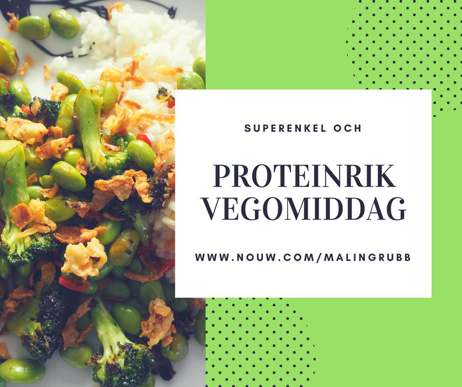 Proteinrik och superenkel vego-middag