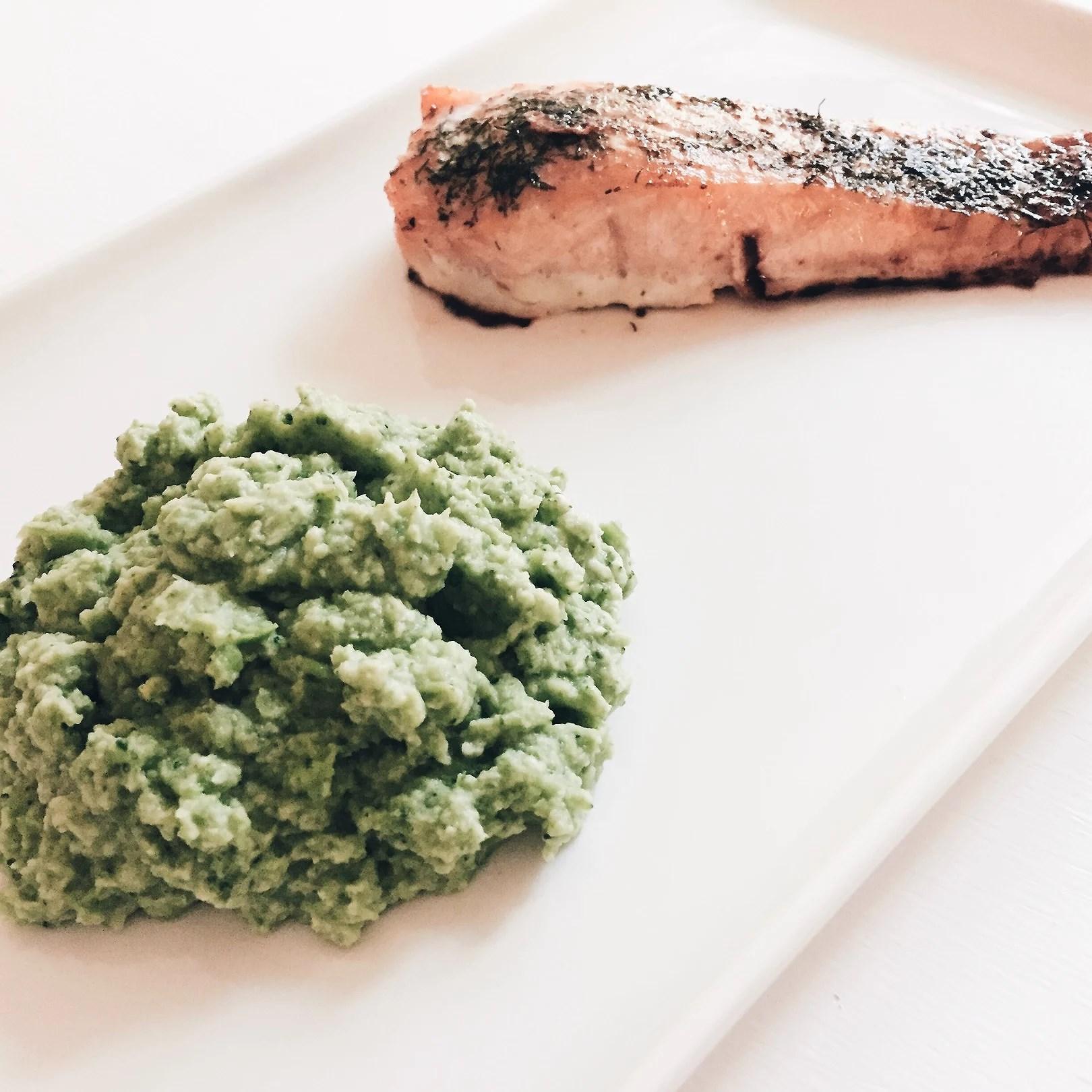 Broccoli- och ärtmos