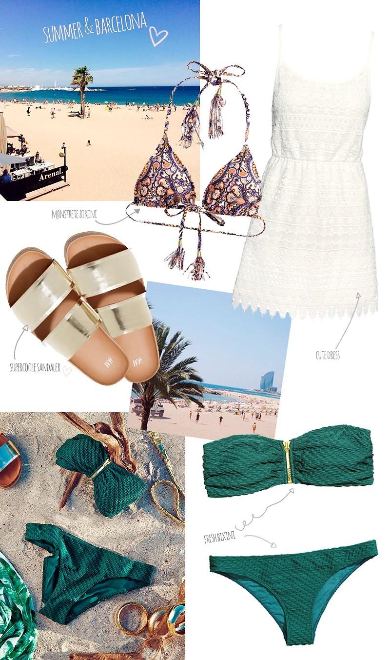 H&M summer collection barcelona sommerferie hm sandaler bikini ferie