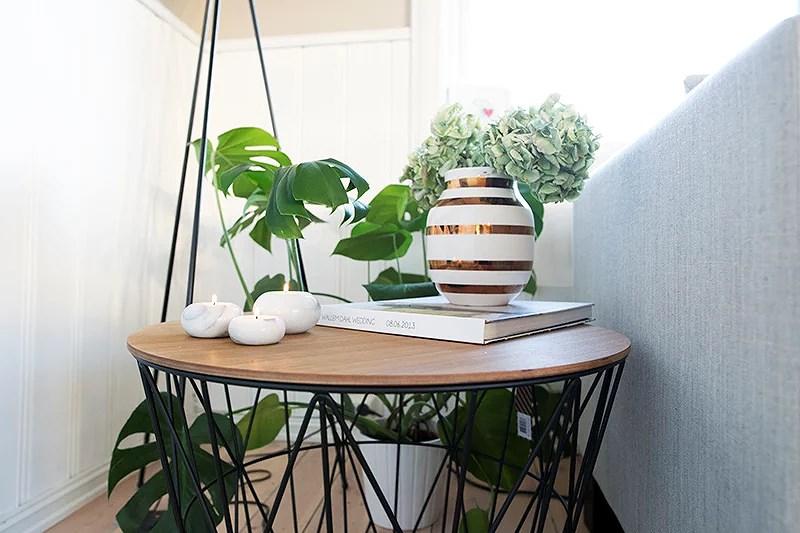 krist.in hjemme interiør home ferm living kurvbord basket eik vase gull kähler limited edition marmor lysestaker lampe oslo wood svart