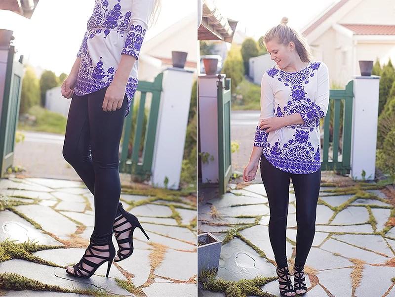 krist.in style shein blue white dress primark heels