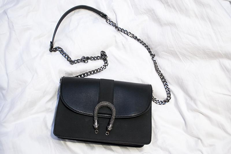 New in: black bag