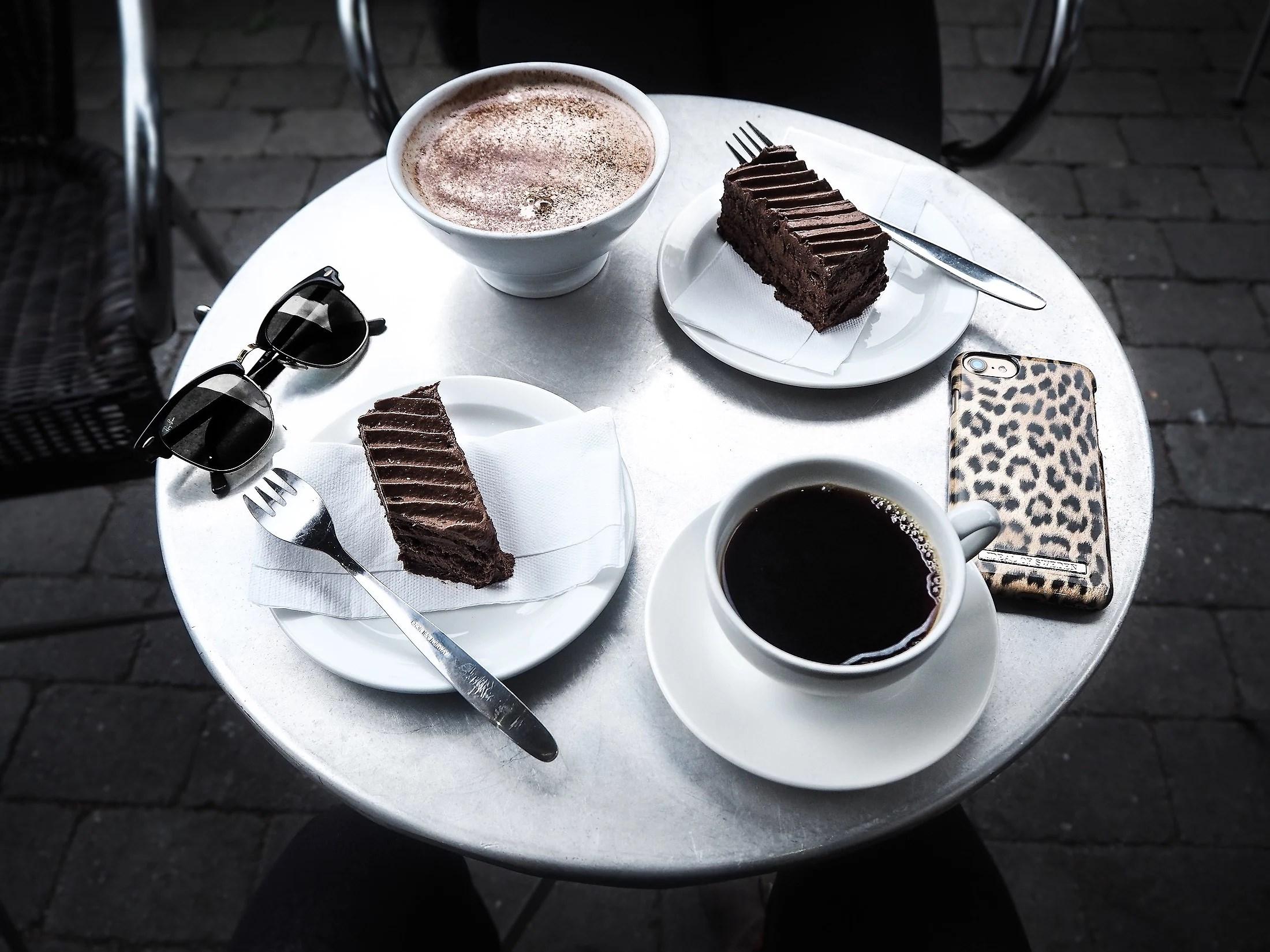 Cafébesøk med roomie fra NYC