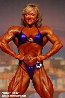 kvinnliga bodybuilders