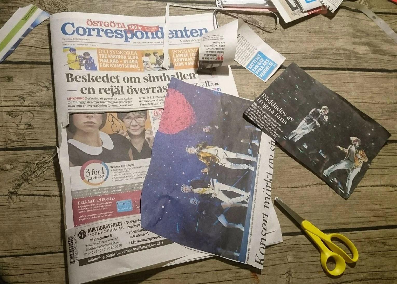 Trasig tidning