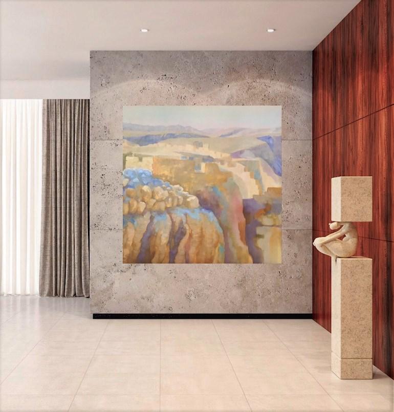 """""""Masada"""", acrylic and oil on canvas, by Nina Björk Art"""