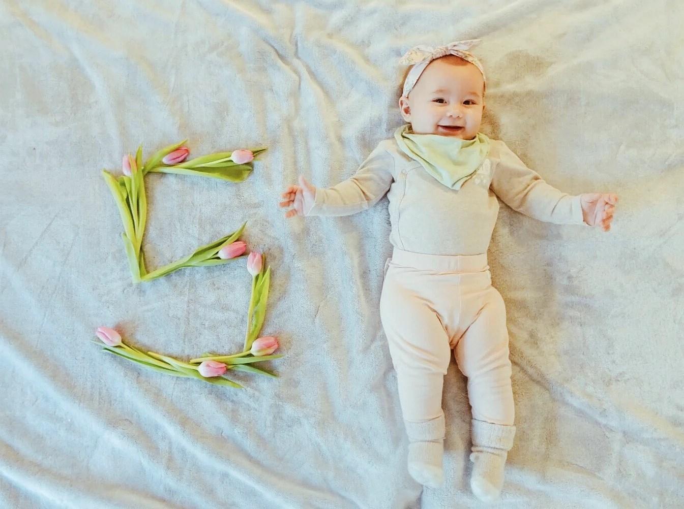 Leona fem månader