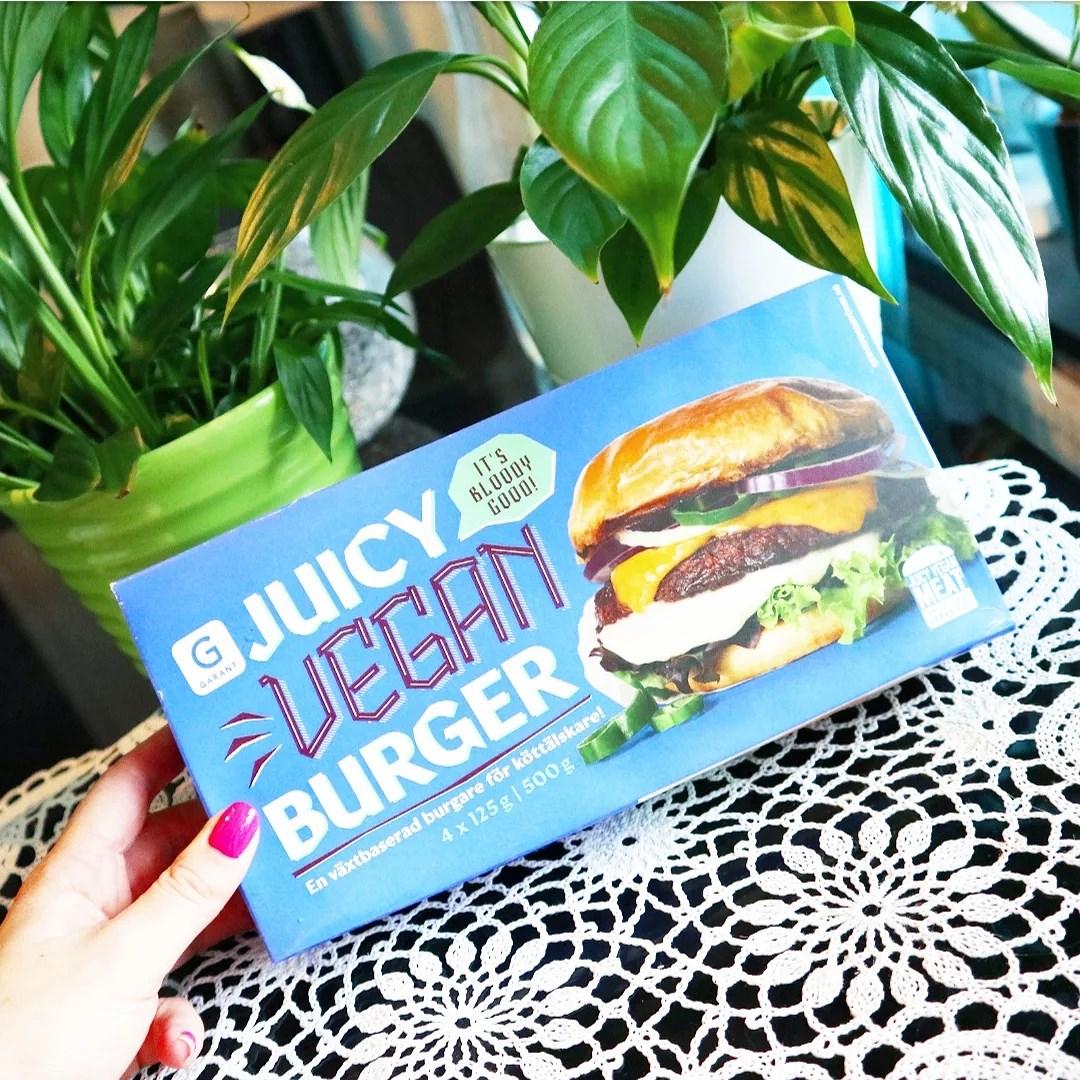 Garant Juicy Vegan Burger - nyhet!